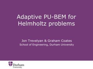 Adaptive PU-BEM for Helmholtz problems