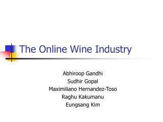 The Online Wine Industry