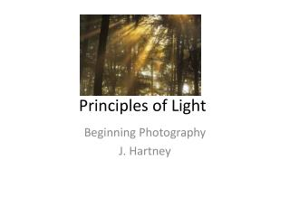 Principles of Light