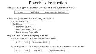 Branching Instruction