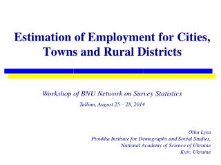 Estimation of Employment for Cities, Towns and Rural Districts