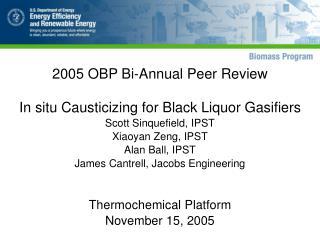 2005 OBP Bi-Annual Peer Review