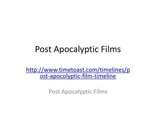 Post Apocalyptic Films