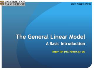The General Linear Model