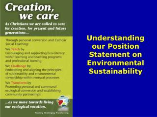 Understanding our Position Statement on Environmental Sustainability