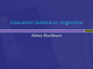 Educación pública en Argentina