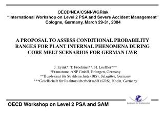 OECD Workshop on Level 2 PSA and SAM