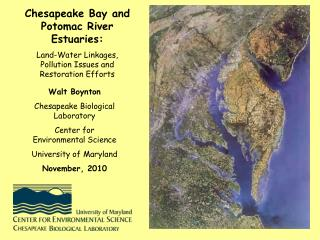 Chesapeake Bay and Potomac River Estuaries: