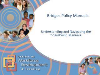 Bridges Policy Manuals
