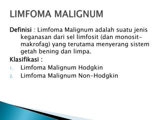 LIMFOMA MALIGNUM