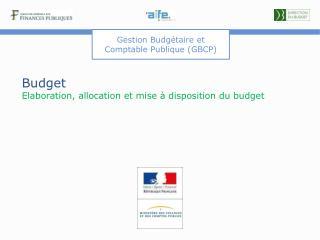 Budget Elaboration, allocation et mise à disposition du budget