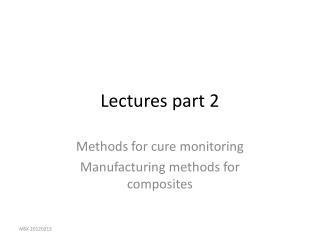Lectures part 2