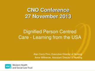 CNO Conference 27 November 2013