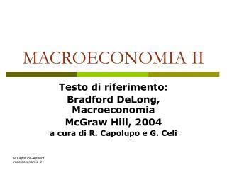 MACROECONOMIA II