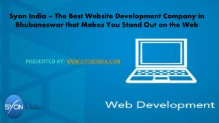 The Best Website Development Company in Bhubaneswar