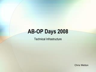 AB-OP Days 2008