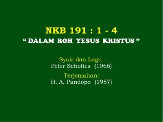 NKB  191  : 1 - 4