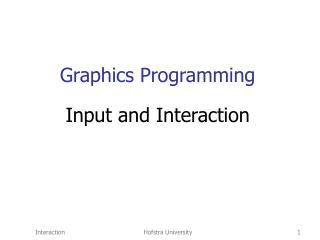 Graphics Programming