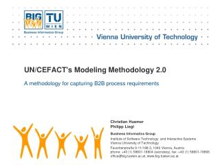 UN/CEFACT's Modeling Methodology 2.0
