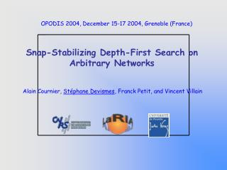 Snap -Stabilizing Depth-First Search on Arbitrary Networks