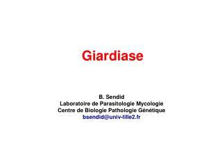 Giardiase