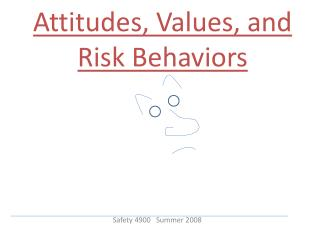 Attitudes, Values, and Risk Behaviors