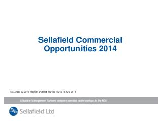 Sellafield Commercial  Opportunities 2014