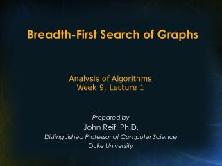 Breadth-First Search of Graphs