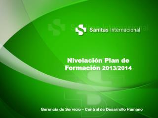 Nivelación Plan de Formación  2013/2014