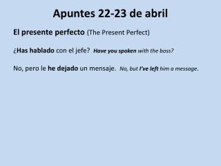 Apuntes 22-23 de abril