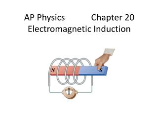 AP Physics            Chapter 20 Electromagnetic Induction