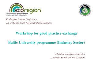 Workshop for good practice exchange Baltic University programme (Industry Sector)