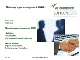 Materialgruppenmanagement (MGM)