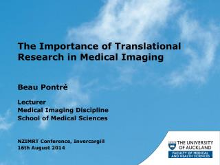 The Importance of Translational Research in Medical Imaging