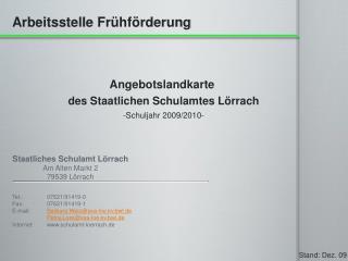 Staatliches Schulamt Lörrach Am Alten Markt 2 79539 Lörrach
