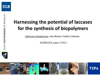 Harnessing  the  potential  of laccases for the  synthesis  of  biopolymers