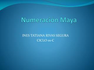 Numeraci�n Maya