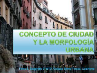 Concepto de ciudad y la morfología urbana