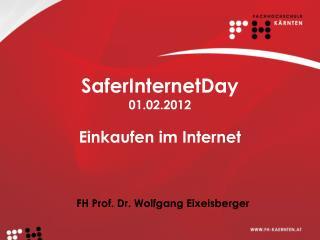 SaferInternetDay 01.02.2012 Einkaufen im Internet