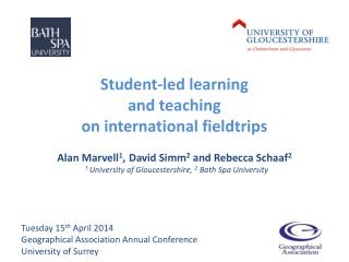 Student-led learning  and teaching  on international fieldtrips
