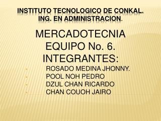INSTITUTO TECNOLOGICO DE CONKAL. ING. EN ADMINISTRACION .