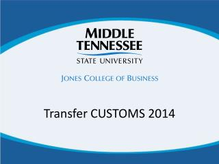 Transfer CUSTOMS 2014