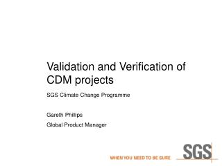 Validation and Verification of CDM projects