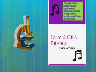 Term 3 CBA Review