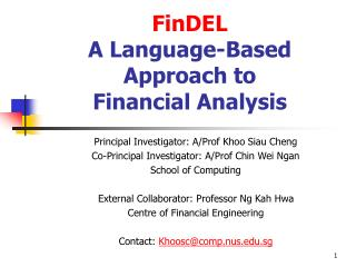 FinDEL A Language-Based Approach to  Financial Analysis
