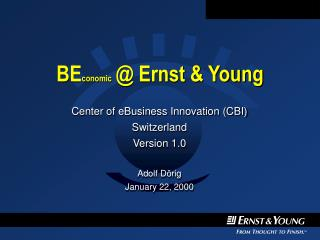 BE conomic @ Ernst & Young