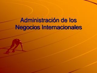 Administración  de los  Negocios Internacionales