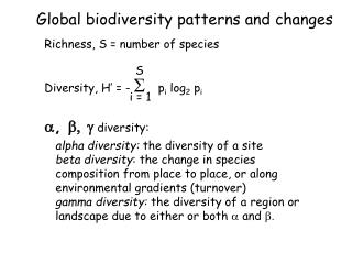 Global biodiversity patterns and changes