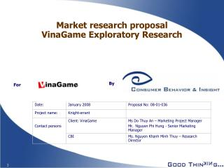 Market research proposal VinaGame Exploratory Research