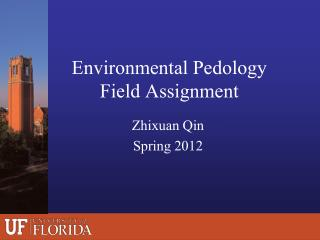 Environmental Pedology Field Assignment